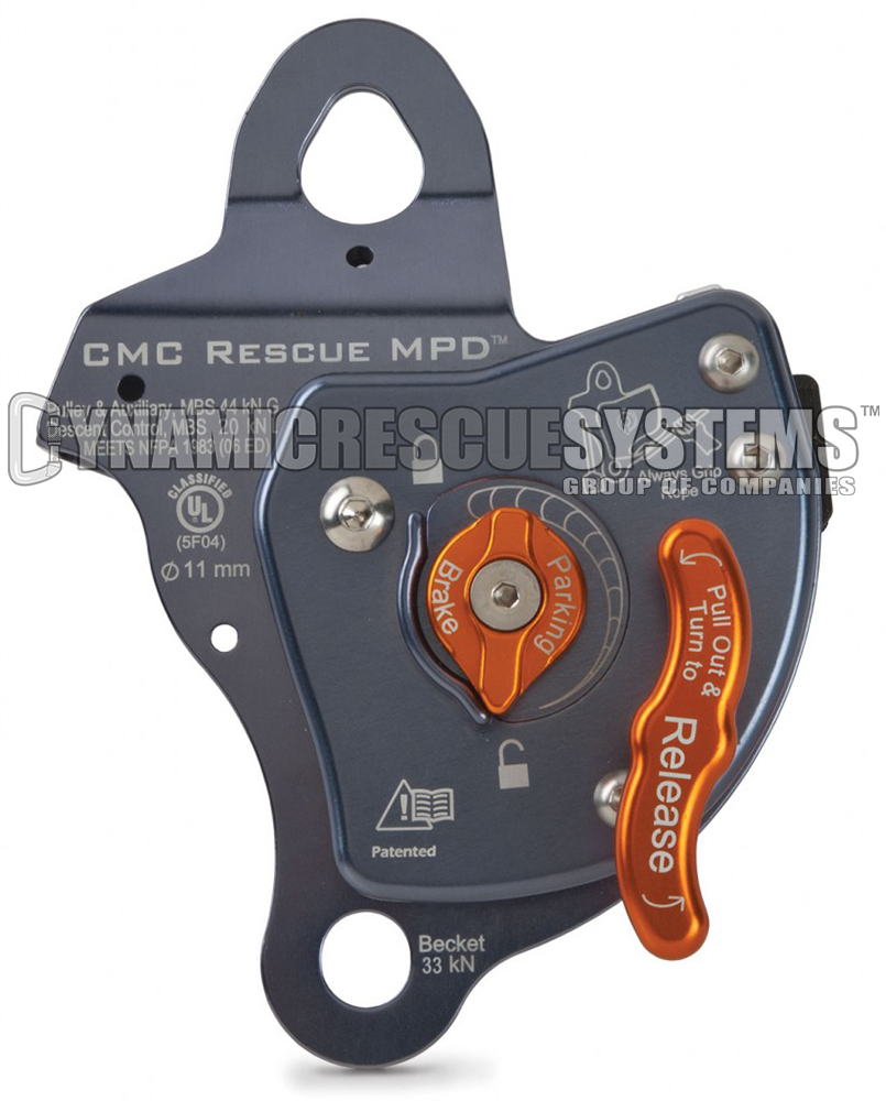 Rescue MPD, Pulley Belay Descender - 11 mm, Grey, CMC - CMC - Dynamic Rescue