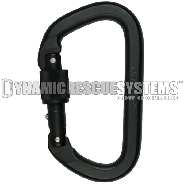 Locking D Aluminum Carabiner - NFPA, SMC - SMC - Dynamic Rescue - 1