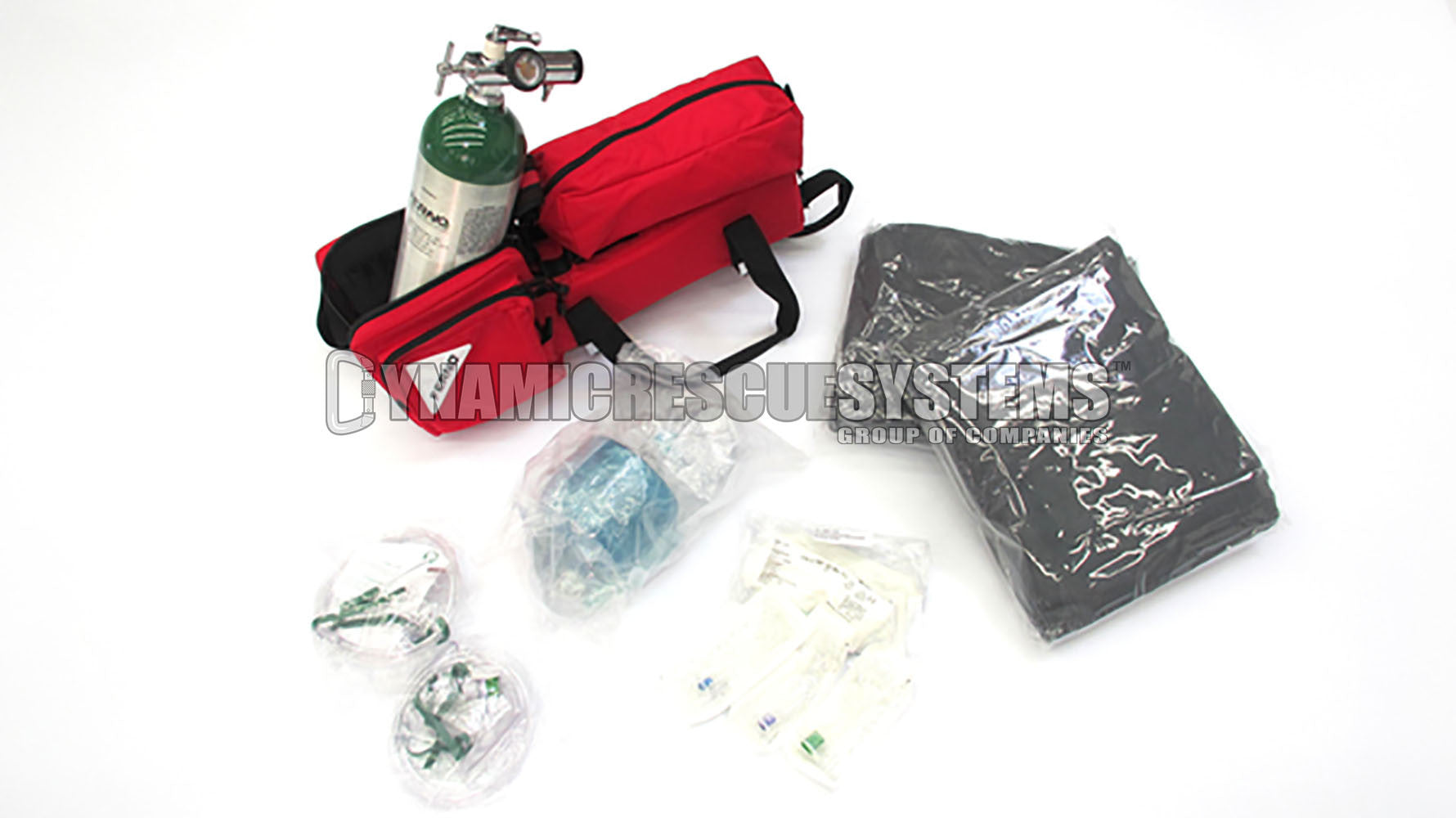 Oxygen Carrying Kit D-Size, MB5120, Red - Ferno - Ferno - Dynamic Rescue