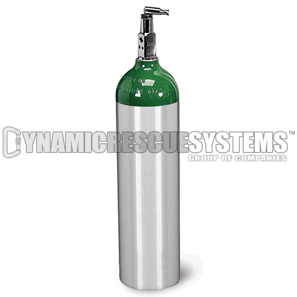 Oxygen Cylinder, 217 D Size, Aluminum w/ CGA 870 on/off toggle - Ferno