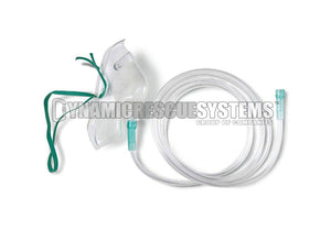 Standard Oxygen Mask with tubing - Dynamic Rescue Equipment - Dynamic Rescue