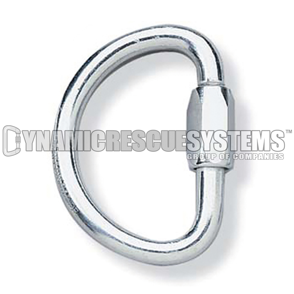 Half-Moon Screw Link - PMI, Galvanized Steel, 9.5 mm - PMI - Dynamic Rescue