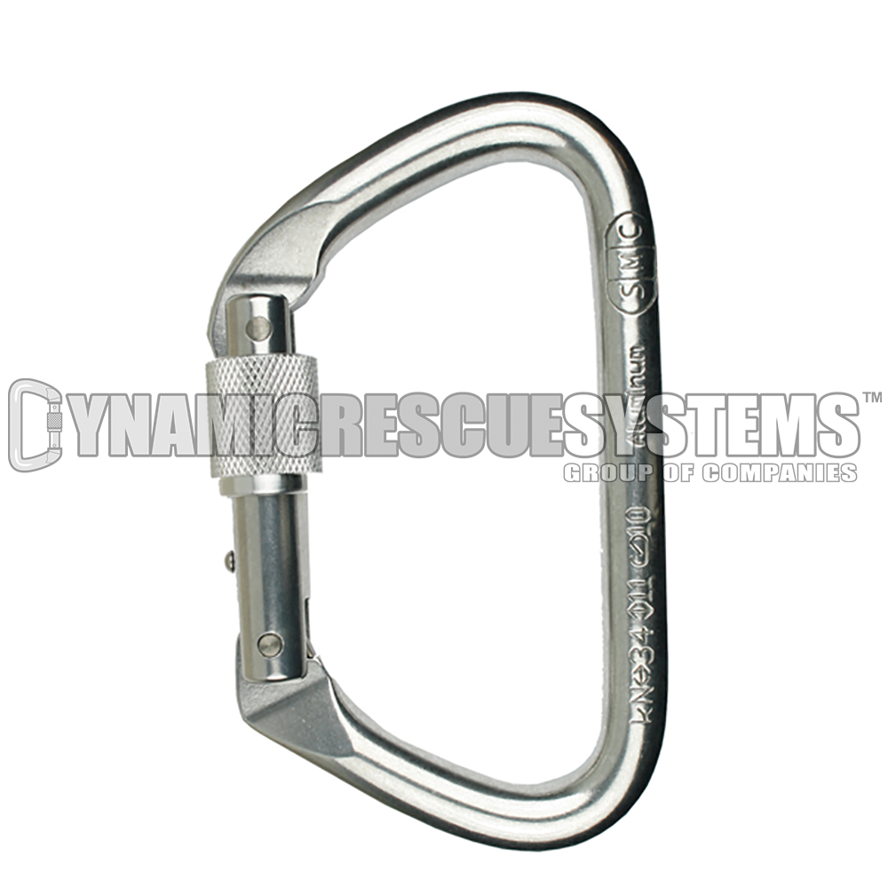 Large Locking D Aluminum Carabiner - SMC - SMC - Dynamic Rescue - 1