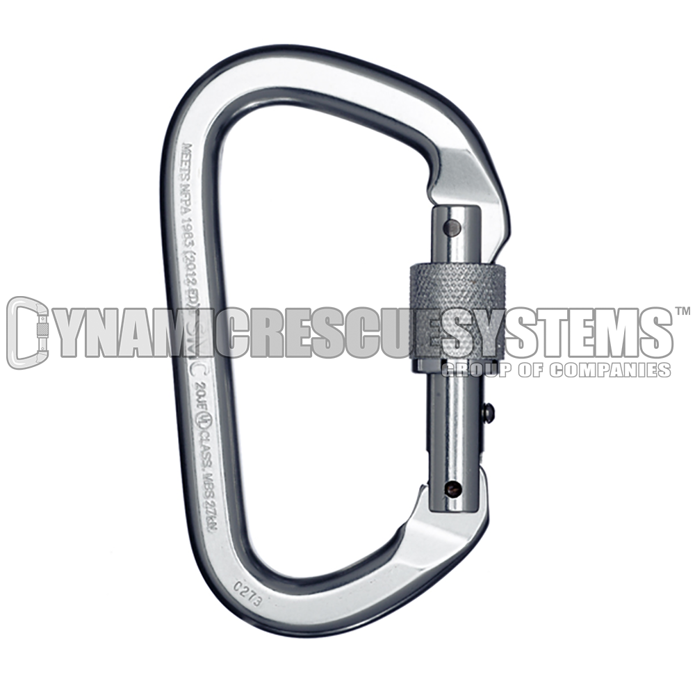 Locking D Aluminum Carabiner - SMC - SMC - Dynamic Rescue - 1