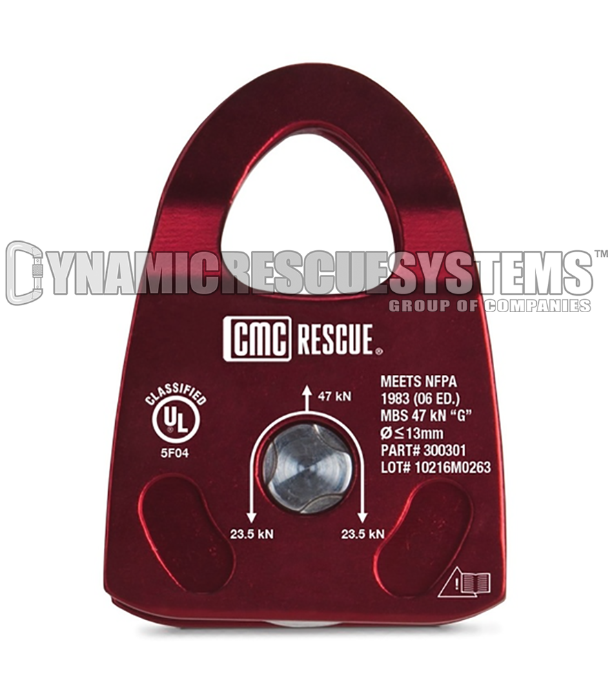 Personal Single Rescue Pulley - NFPA, Burgundy, CMC - CMC - Dynamic Rescue - 1
