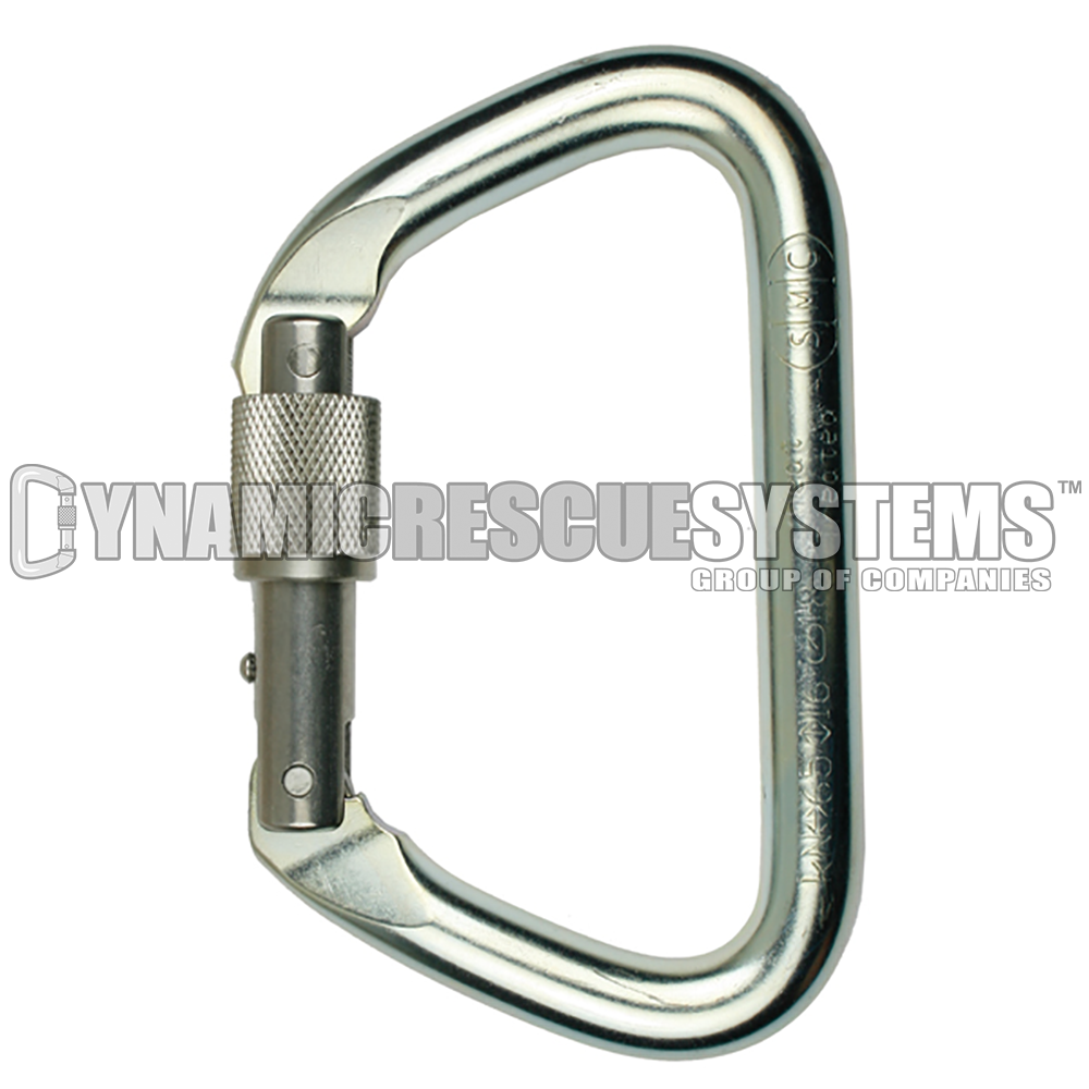 Large Steel Locking D Carabiner - NFPA, SMC - SMC - Dynamic Rescue - 1