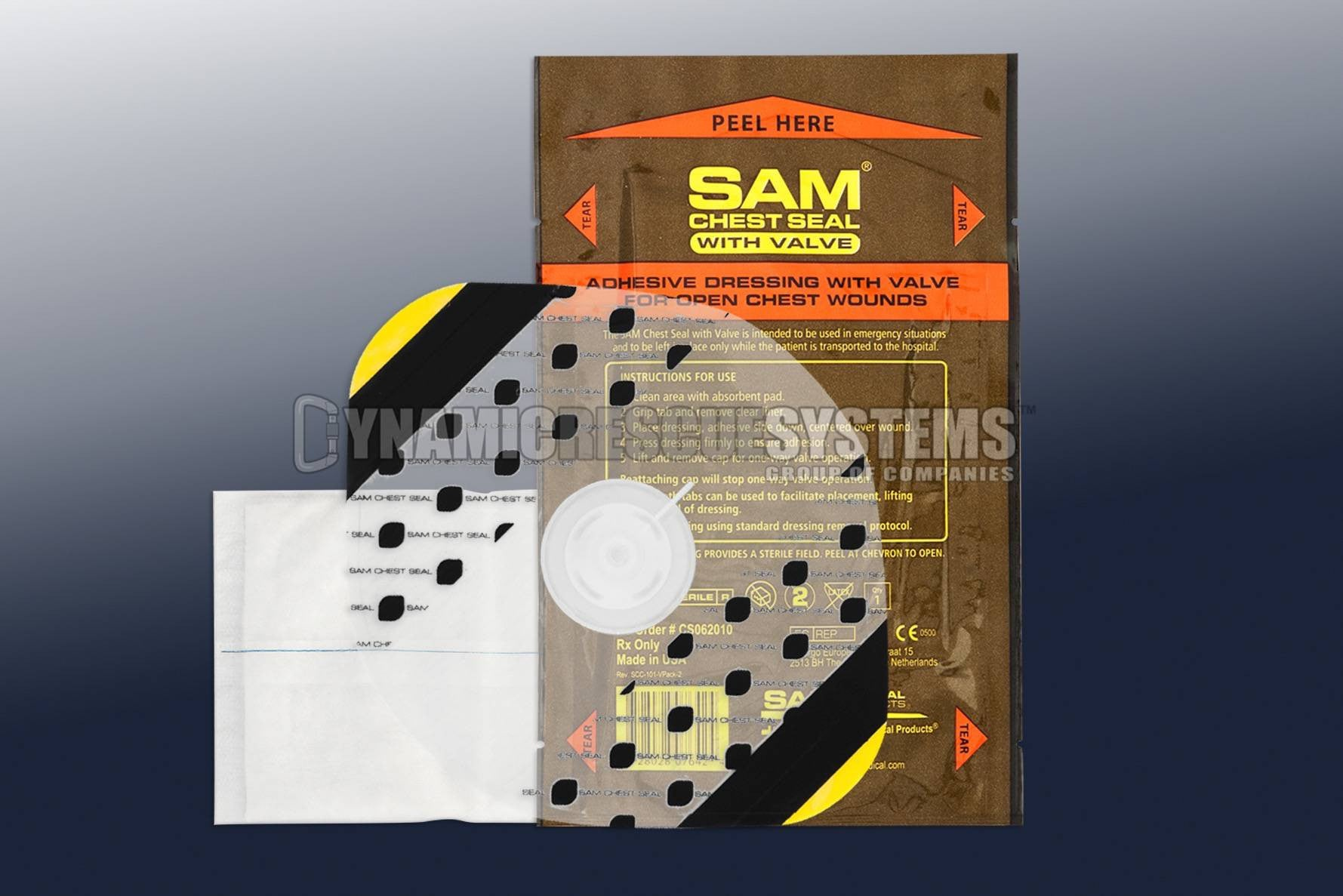 Products Page 14 Dynamic Rescue Systems Micro Ventilator Responder Sam Chest Seal 1