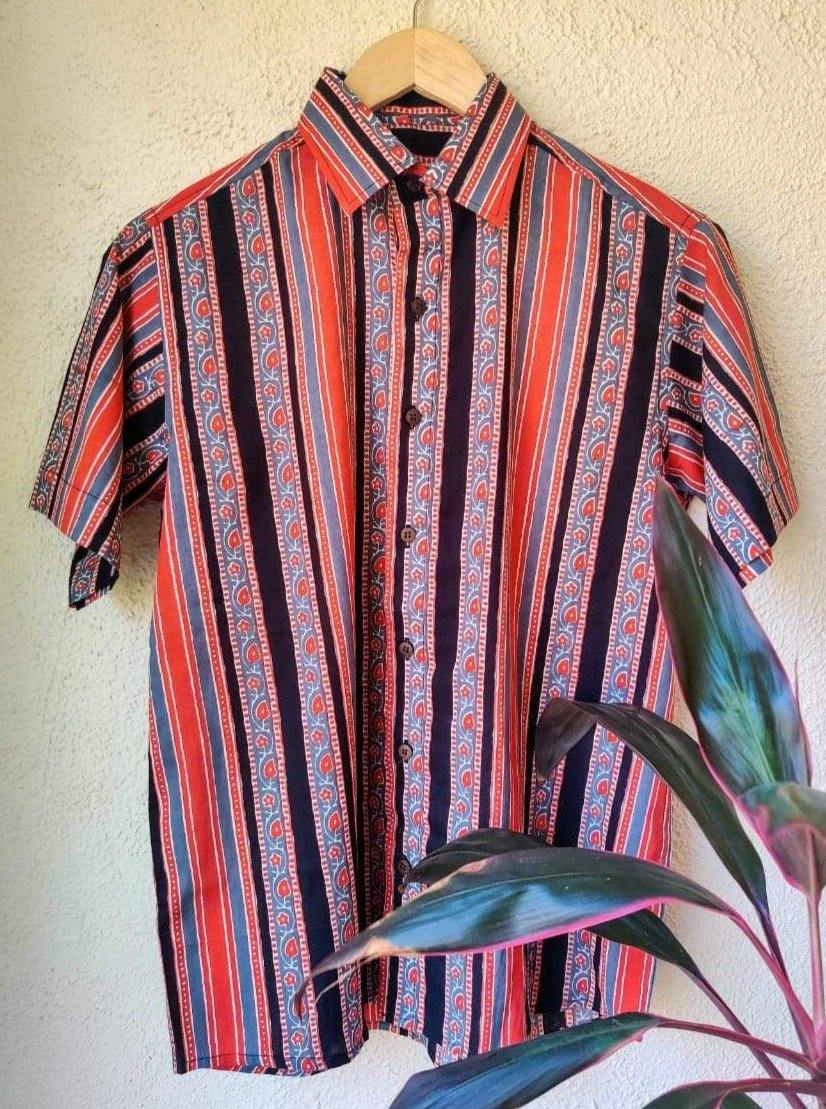 Black and red stripes casual cotton shirt for men by Siesta o'Clock