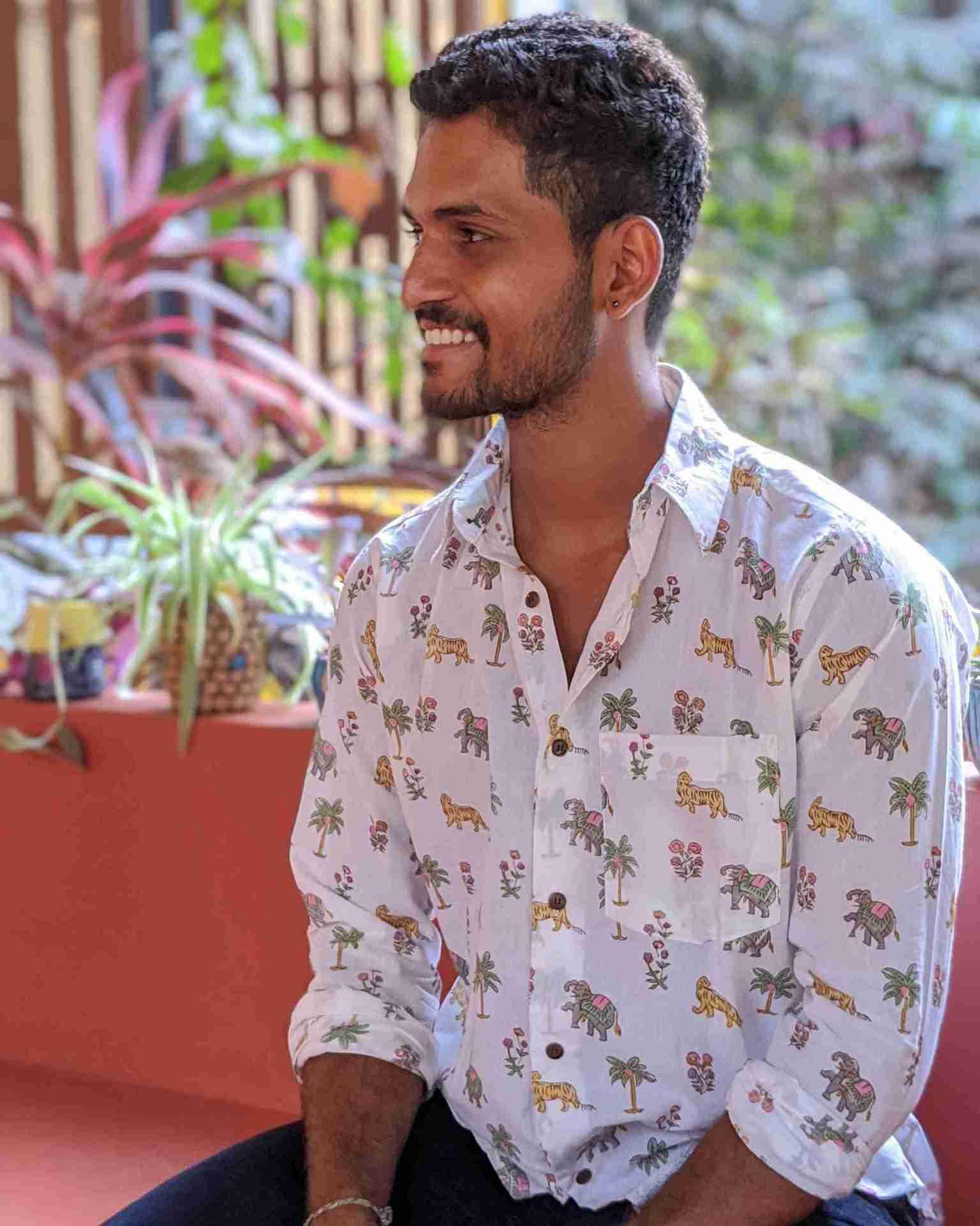 Tigers in the jungle print cotton shirt by Siesta o'Clock