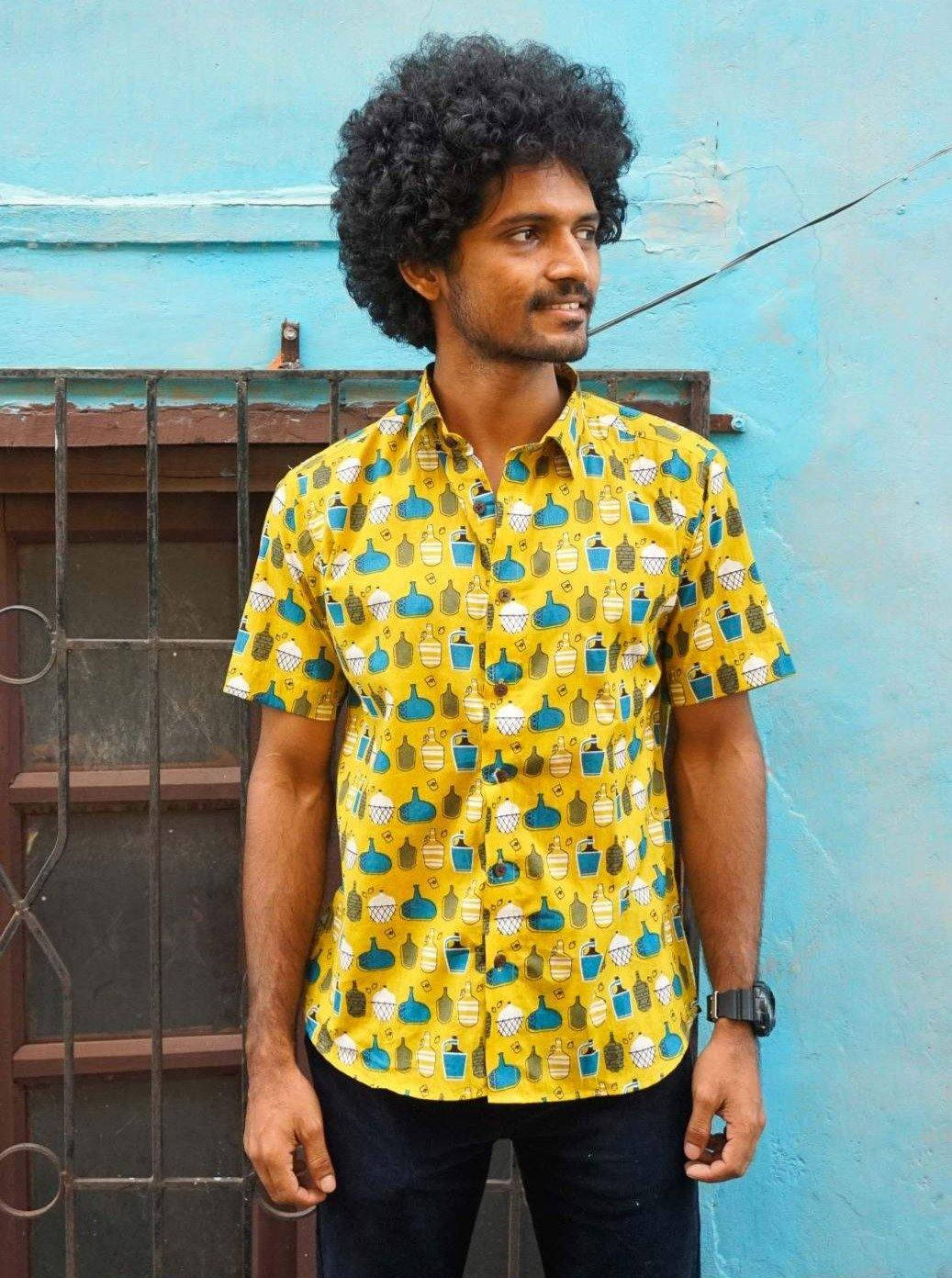 Vintage feni bottle - Garrafao - print Artist Edit shirt by Siesta o'Clock