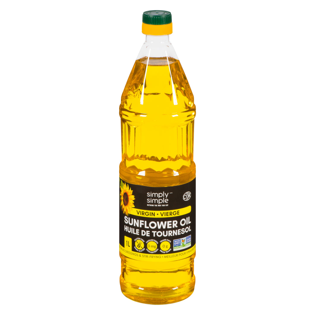Simply Simple Sunflower Oil - Virgin 1L (Pack of 6)