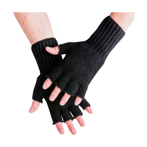 POSSUM/SILK FINGERLESS GLOVE