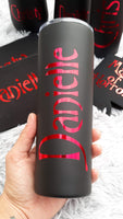 Personalized Halloween Skinny Tumbler, Stainless Steel