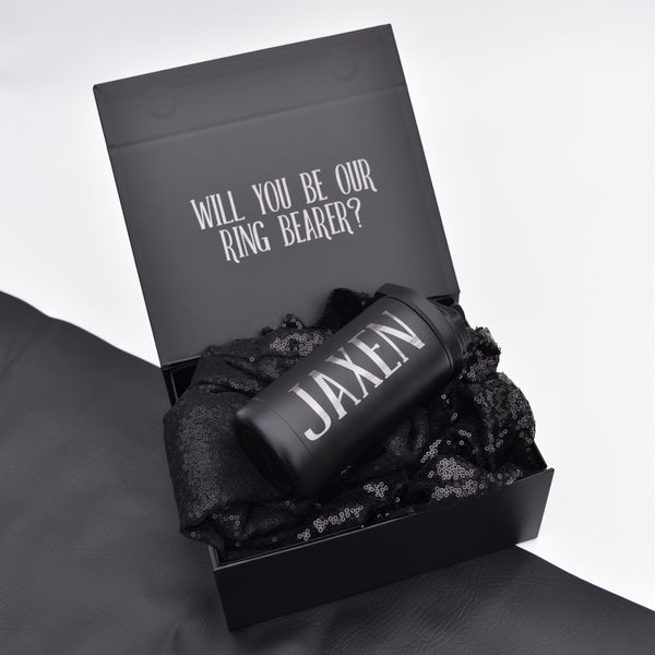 Personalized Ring Bearer Proposal Box