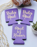 Bridesmaid & Maid of Honor Can Cooler Set