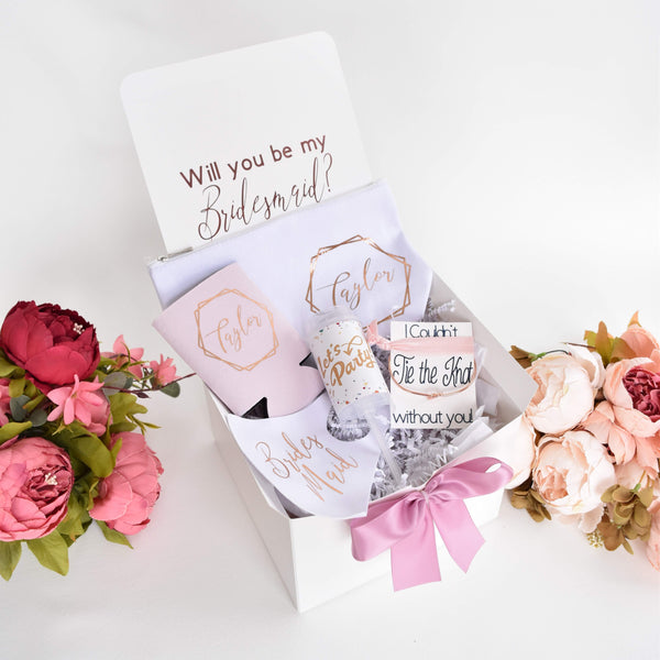 Monogrammed Bridesmaid Proposal Box with optional gifts