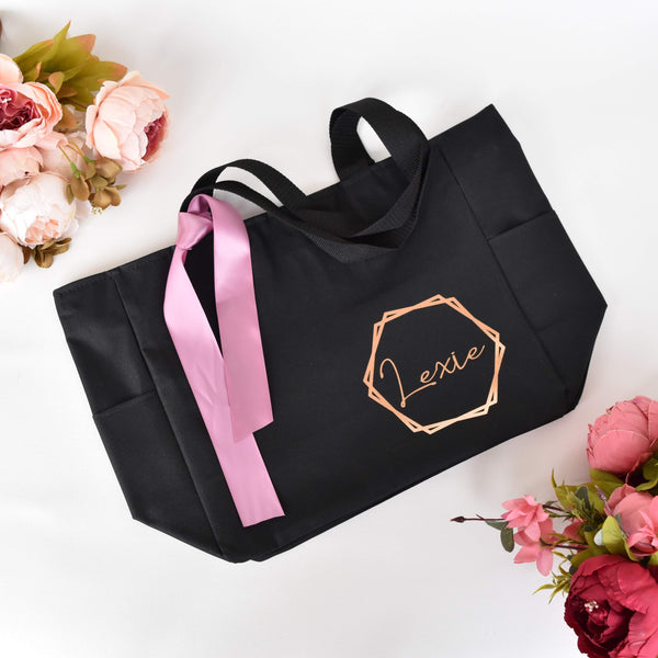 Personalized Tote Bag with zipper, Swag Bag