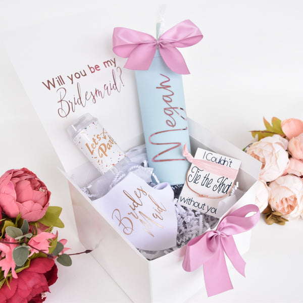 Personalized Bridesmaid Proposal Box with optional gifts