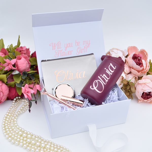 Personalized Flower Girl Proposal Box