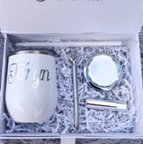 Personalized Bridesmaid Proposal Box with White Tumbler