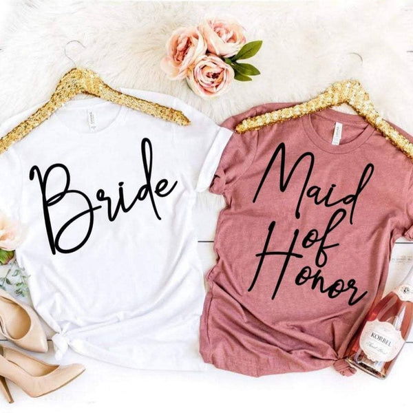 Bride & Bridesmaids Shirt, Vinyl
