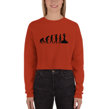 Load image into Gallery viewer, Truth About Human Evolution Crop Sweatshirt