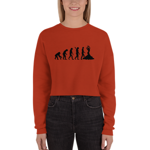 Truth About Human Evolution Crop Sweatshirt