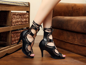 Latin Dance Shoes. Elegant Gladiator.