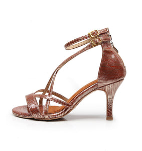 Argentine Tango Dance Shoes. Rose Gold