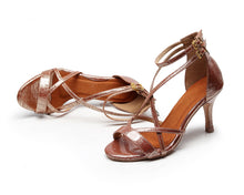 Load image into Gallery viewer, Argentine Tango Dance Shoes. Rose Gold