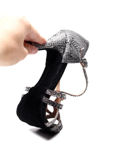 Latin Dance Shoes. Disco. (Custom Heel Height)
