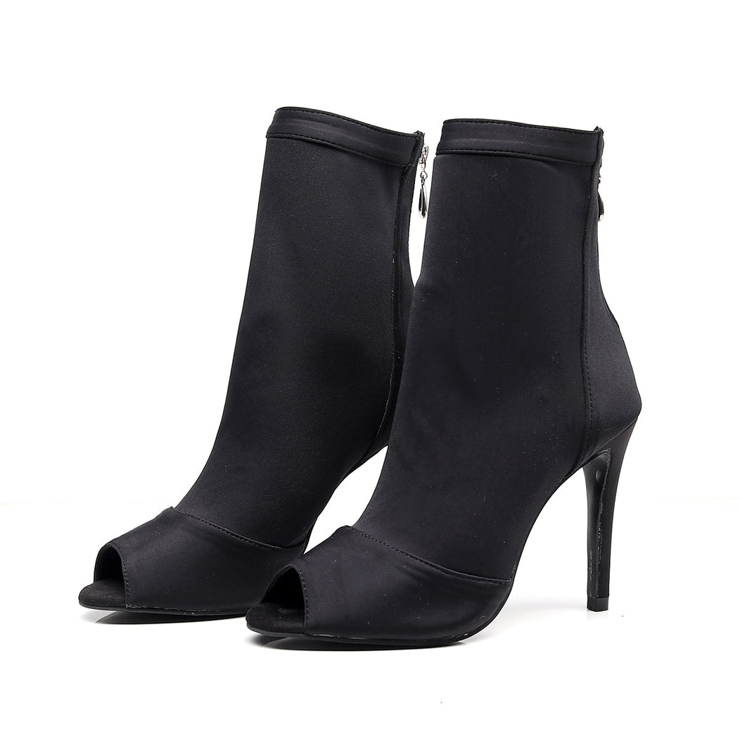 Latin Dance Shoes. The Sexy Peep Toe Bootie