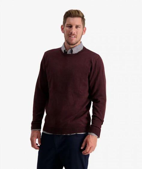 Swanndri Belt Road Merino Crew Neck Jumper - OXBLOOD