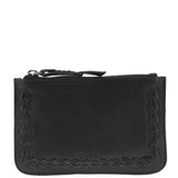 Bronx Leather Whip Stitch Pouch