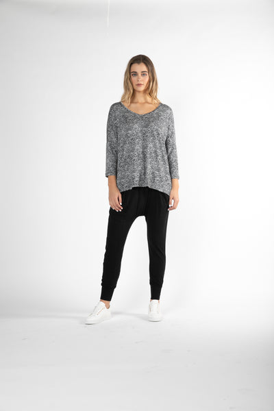 Betty Basics Bilboa Top - BLACK TERRAIN