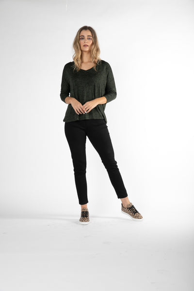 Betty Basics Bilboa Top - OLIVE TERRAIN