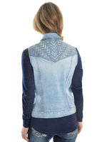 Pure Western Denim Vest