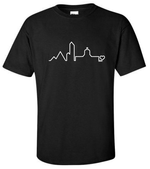 Load image into Gallery viewer, Edmonton Cityscape Tee + Mask