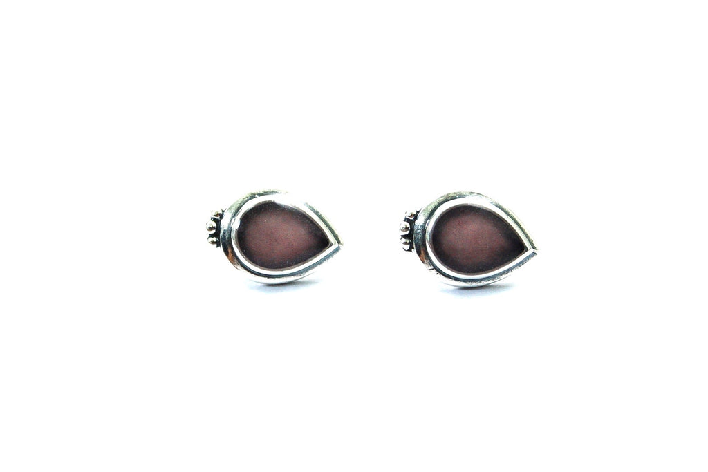 Laguna Drop Sterling Silver Stud Earrings