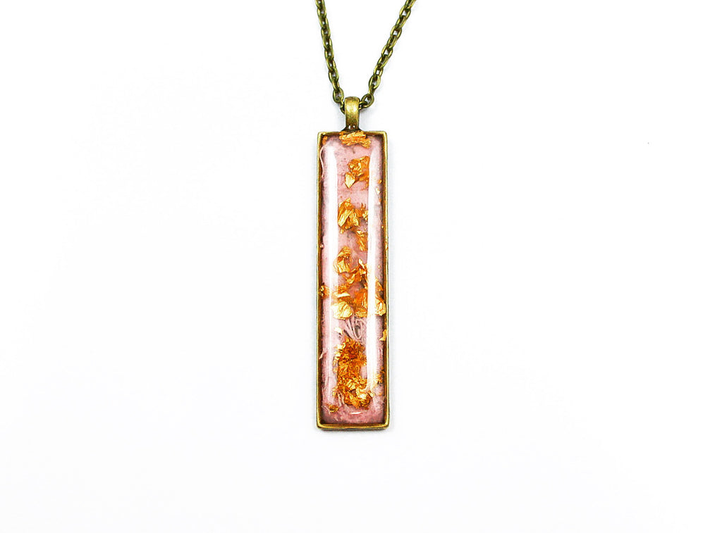Newport Element Brass Pendant with 24k Gold Flakes