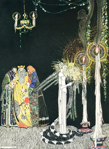 Fairytale & Folklore Stickers - Kay Nielsen, Dangerous Situations