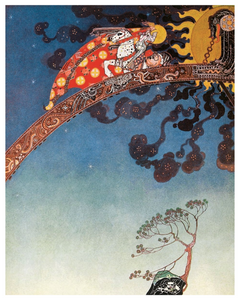 Fairytale & Folklore Poster - Kay Nielsen, East of the Sun West of the Moon, And Flitted Away, 8X10