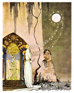 Fairytale & Folklore Poster - Kay Nielsen, The Lassie and her Godmother, 8X10