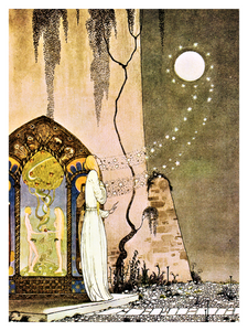 Fairytale & Folklore Poster - Kay Nielsen, The Lassie and her Godmother, 12X16