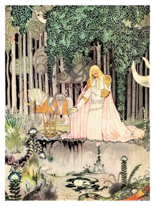 Kay Nielsen folklore illustration folklore poster is from a story called The Lassie and her Godmother