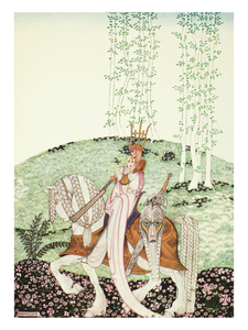 This Kay Nielsen folklore poster comes from a story called The Lassie and her Godmother.