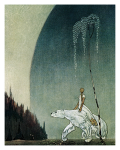Fairytale & Folklore Poster - Kay Nielsen, East of the Sun West of the Moon, White Bear, 8X10
