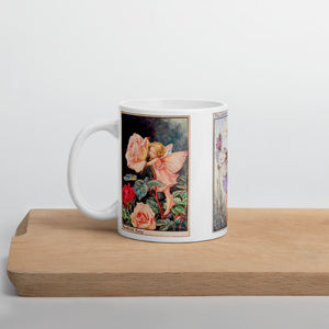 Fairytale & Folklore Mug - Cecily Mary Barker's Flower Fairies: Rose, Lavender, Red Clover