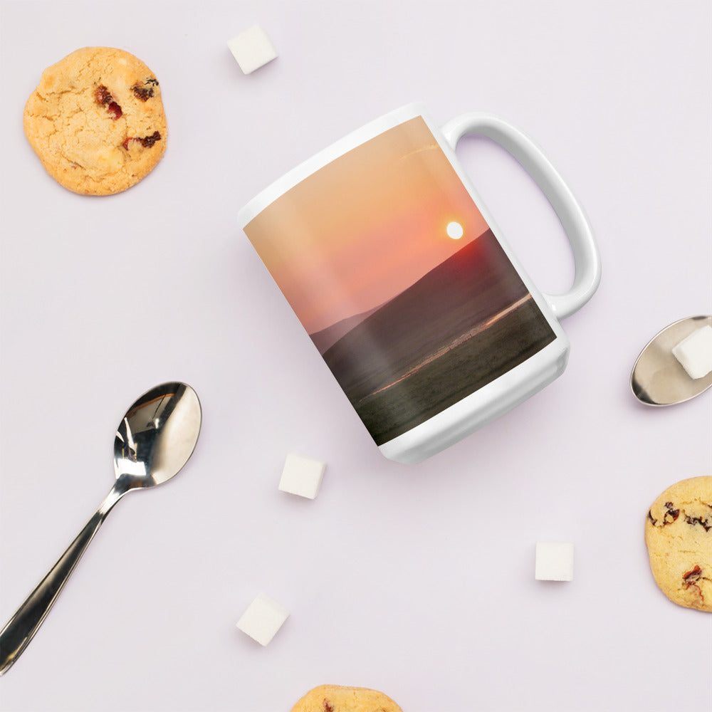 Island Time Mug - Island Time, Stenness Loch at Sunset, shop.orkneyology.com