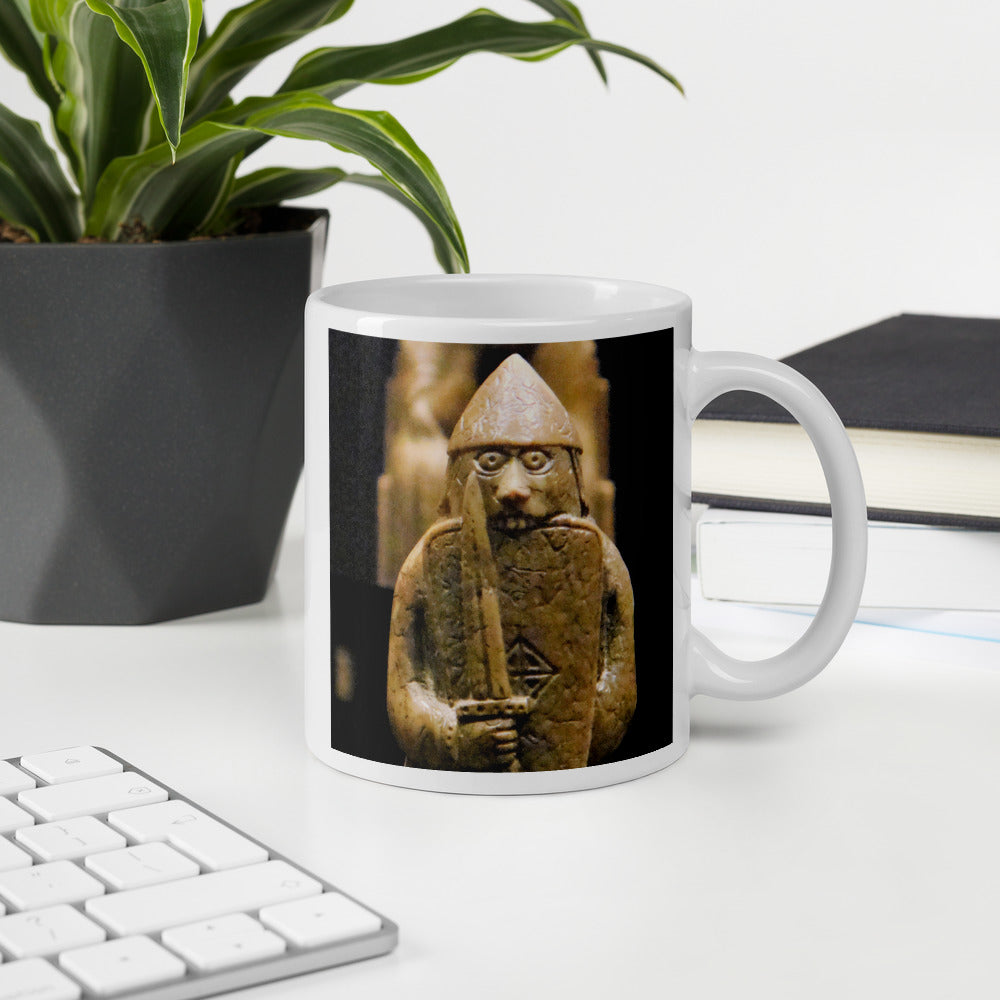 Viking Mug - Lewis Chessmen Berserker, Bring Coffee Now!